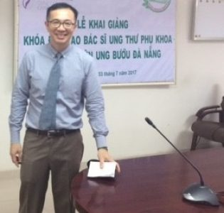 Dr. Tri Dinh in Conference Room
