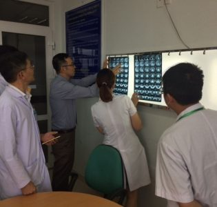 Reviewing images in Vietnam